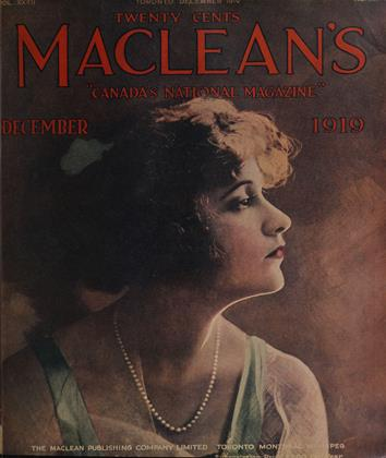 Cover for the December 1 1919 issue