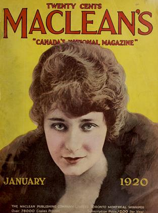 Cover for the January 1 1920 issue