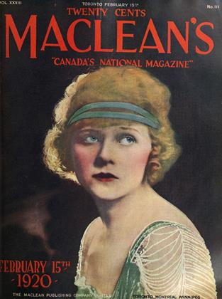 Cover for the February 15 1920 issue