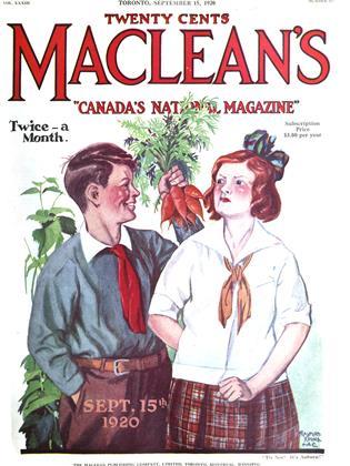 SEPTEMBER 15, 1920 | Maclean's