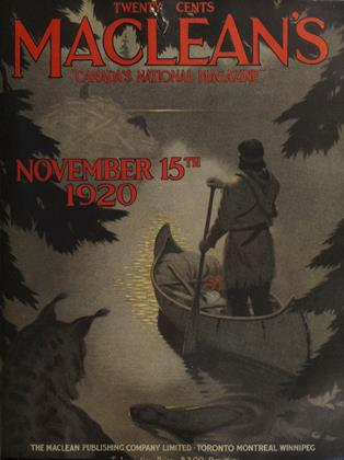 Cover for the November 15 1920 issue