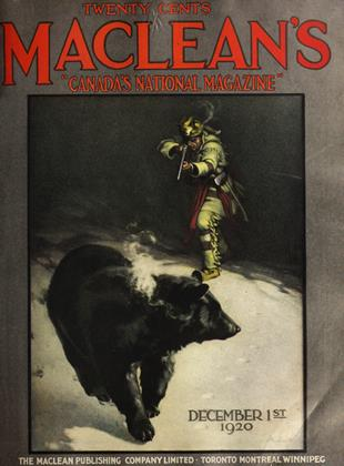 Cover for the December 1 1920 issue