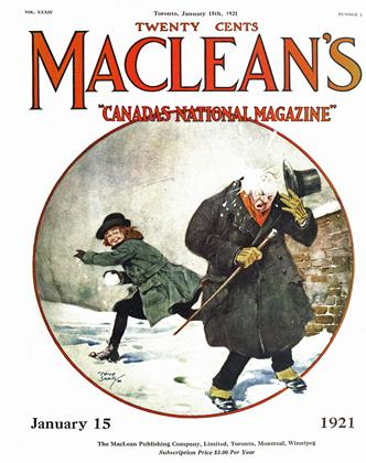 Cover for the January 15 1921 issue