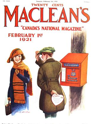 Cover for the February 1 1921 issue