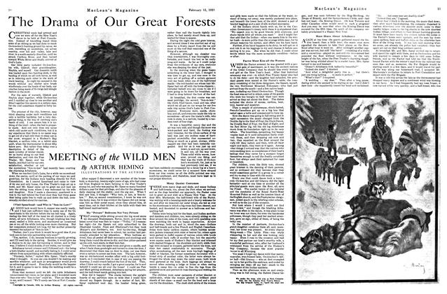 The Drama of Our Great Forests MEETING of the WILD MEN