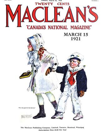 Cover for the March 15 1921 issue