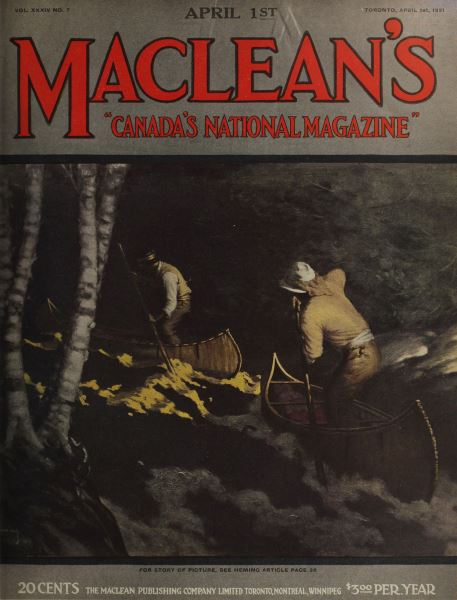 Issue: - APRIL 1st, 1921 | Maclean's