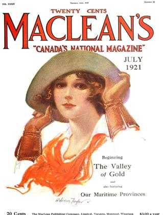 Cover for the July 1 1921 issue