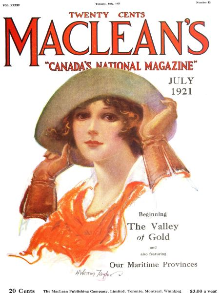 Issue: - July 1921 | Maclean's