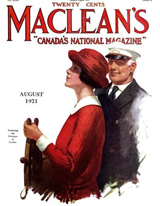 Cover for the August 1 1921 issue