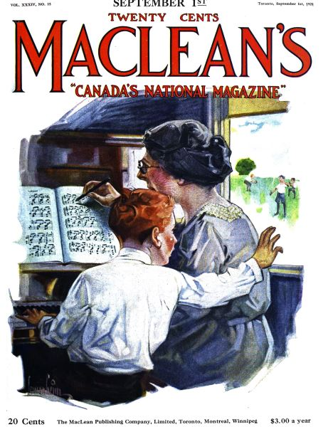 Issue: - September 1st, 1921 | Maclean's