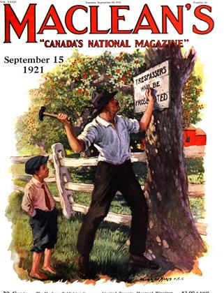 Cover for the September 15 1921 issue