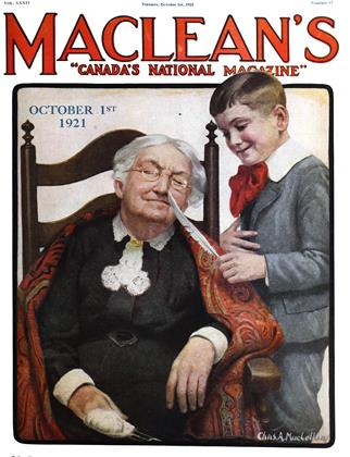 Cover for the October 1 1921 issue