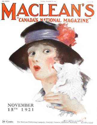 Cover for the November 15 1921 issue