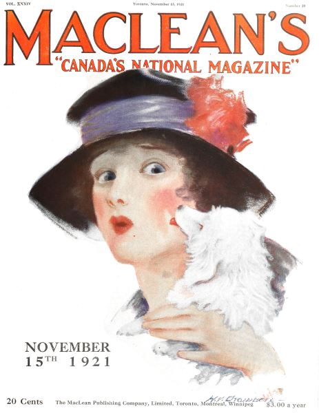 Issue: - Toronto, November 15, 1921 | Maclean's