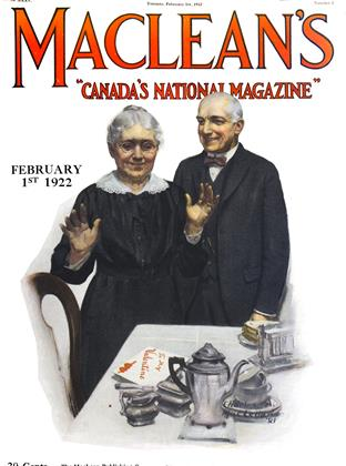 Cover for the February 1 1922 issue