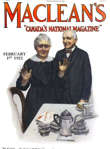 Issue: - FEBRUARY 1ST 1922 | Maclean's