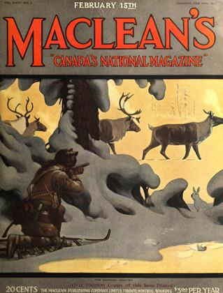 Cover for the February 15 1922 issue