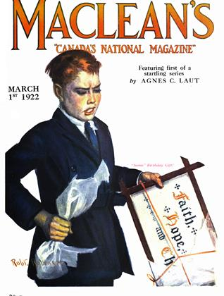 Cover for the March 1 1922 issue