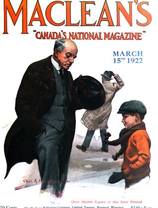 Cover for the March 15 1922 issue