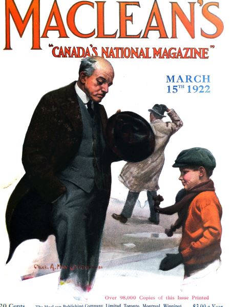 Issue: - MARCH 15TH 1922 | Maclean's