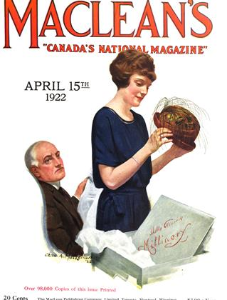 Cover for the April 15 1922 issue