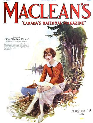 Cover for the August 15 1922 issue