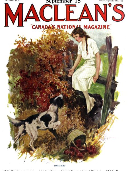 Issue: - September 15th, 1922 | Maclean's