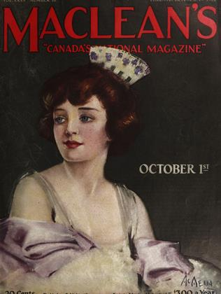 OCTOBER 1ST 1922 | Maclean's