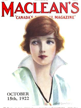 Cover for the October 15 1922 issue