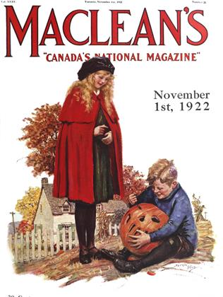 Cover for the November 1 1922 issue