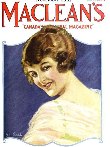Issue: - November 1922 | Maclean's