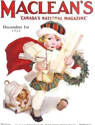 Cover for the December 1 1922 issue