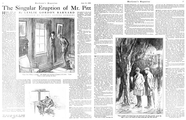 The Singular Eruption of Mr. Pitt