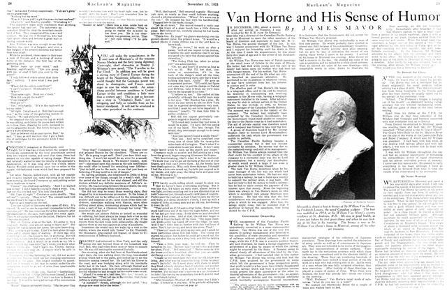 Van Horne and His Sense of Humor