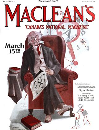 Cover for the March 15 1925 issue