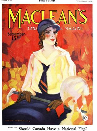 Cover for the September 15 1929 issue