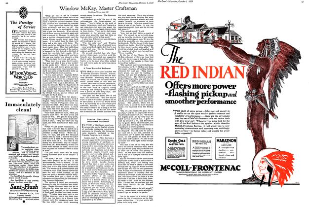 McCOLL-FRONTENAC OIL COMPANY LIMITED, Page: 67 - October 1, 1929 | Maclean's