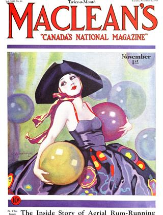 Cover for the November 1 1929 issue