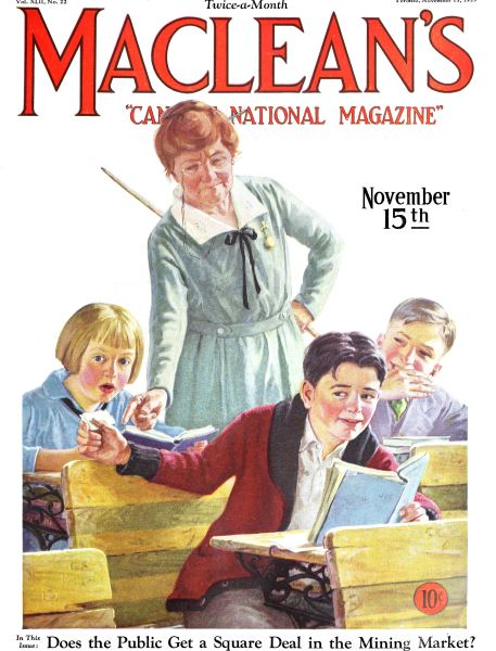Issue: - November 1929 | Maclean's
