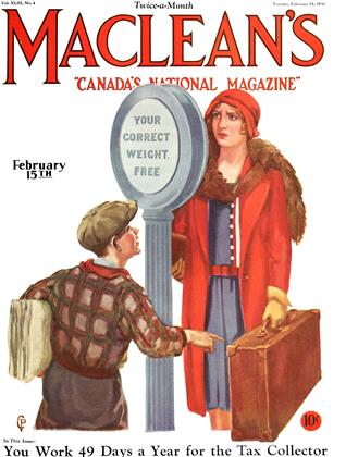 Cover for the February 15 1930 issue