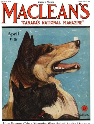 Cover for the April 15 1930 issue