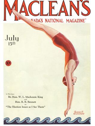 Cover for the July 15 1930 issue