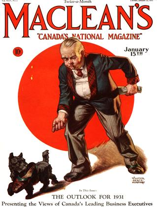 Cover for the January 15 1931 issue