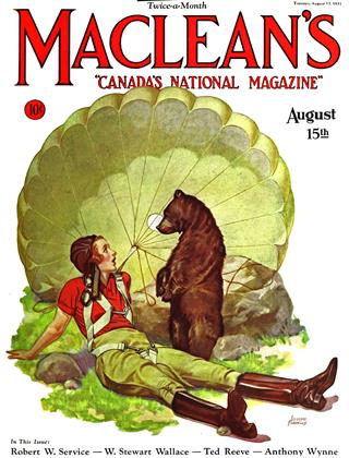Cover for the August 15 1931 issue