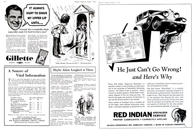 McCOLL-FRONTENAC OIL COMPANY LIMITED, Page: 53 - August 1st 1933 | Maclean's
