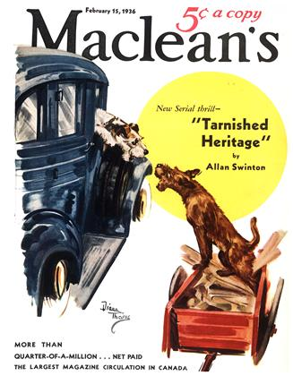 Cover for the February 15 1936 issue