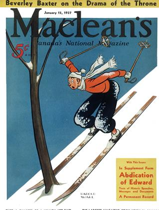 Cover for the January 15 1937 issue
