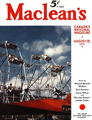 Cover for the August 15 1938 issue