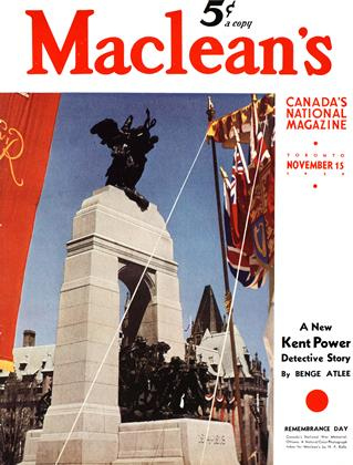 Cover for the November 15 1939 issue